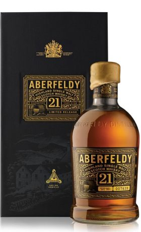 ABERFELDY 21YO Gift Pack and GP Brands
