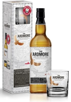 Ardmore Legacy with the glass and GP Brands