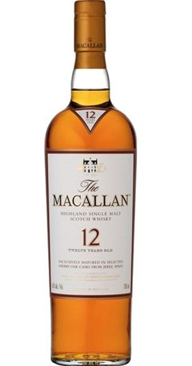 Macallan 12 YO Sherry Oak and GP Brands
