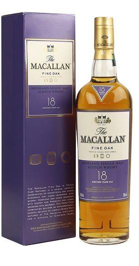 Macallan Fine Oak 18YO and GP Brands