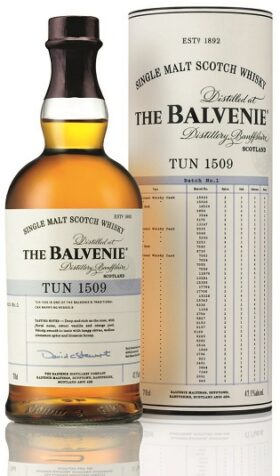 The Balvenie Tun 1509 70cl Bottle & Tube – side with cask details