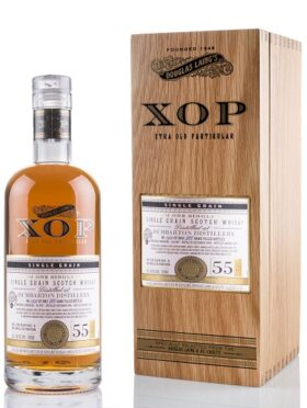 XOP Dumbarton 55 Years Old – box and bottle GP Brands