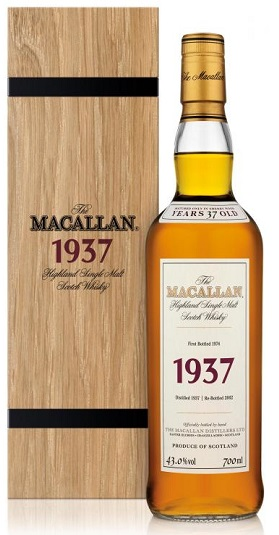 MAcallan Fine and Rare 1937 and GP Brands